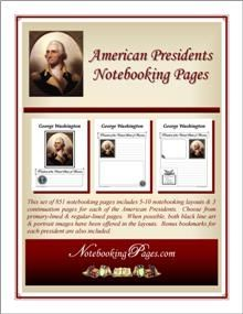 American Presidents Notebooking Pages. FREE this week only (until 28 Aug '13).