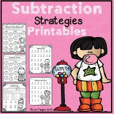 12 pages ready to print and go to help teach Subtraction Strategies.