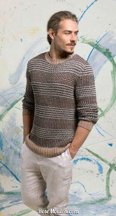 6d2f18274af1 Pullover tricoté avec la qualité Gamma de Lang Yarns. Vous trouverez les  explications de ce