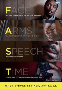 Stroke awareness poster