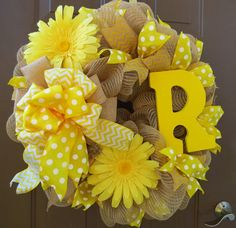 Hey, I found this really awesome Etsy listing at https://www.etsy.com/listing/192052247/initial-deco-mesh-wreath-monogram-deco