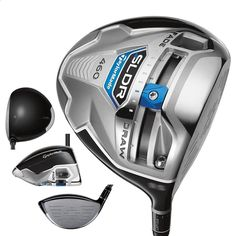 Easy and intuitive SLDR sliding weight on these mens SDLR TP model golf drivers by Taylormade promotes up to 30 yards of shot shape adjustment