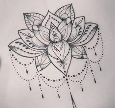 Cool Dotwork Lotus Tattoo Design 59 Tattoo Designs that Mean New Beginning Mandala Tattoo Design, Lotus Mandala Tattoo, Flower Tattoo Designs, Tattoo Flowers, Drawing Flowers, Lotus Drawing, Mandala Tattoo Shoulder, Lotus Henna, Henna Designs