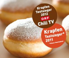 Konditorei Groissböck - die besten Faschingskrapfen Wiens! Hamburger, Bread, Restaurants, Hotels, Food, Food And Drinks, Diners, Meal, Hamburgers