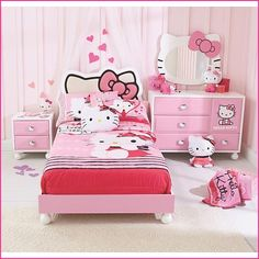 Hello Kitty 4-Piece Bedroom I absolutely adore Hello Kitty, and what is better for the little girl to have a whole Hello Kitty bedroom ?