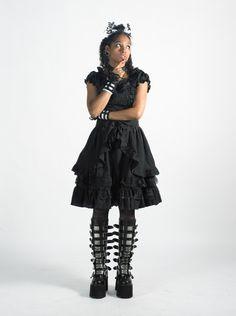 Black Asami gothic lolita dress by ichigoblack on Etsy https://www.etsy.com/listing/98247652/black-asami-gothic-lolita-dress