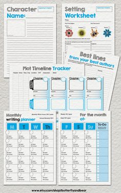 Ultimate Novel Planning kit preview #howtowriteanovel #nanowrimo