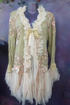 gothic jacket, victorian,bohemian jacket, boho coat,cotton and lace jacket, shabby jacket, tattered jacket, mori girl coat, jacket, coat, western,woodland, maxi here,s a wonderful work of art which holds hours of time and love and my prices on etsy are a gift compared to the galleries and