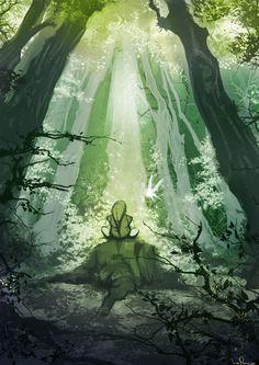 The Legend of Zelda: Ocarina of Time, Adult Link and Navi / Legend of Zelda by iliasPatlis on deviantART