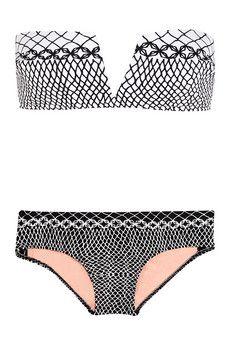 A flattering yet standout bikini // Zimmermann Printed stretch-nylon bikini