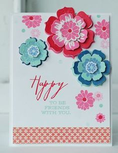 Happy To Be Friends Card by Betsy Veldman for Papertrey Ink (April 2013)