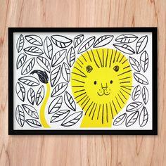 Lisa Jones Studio Risograph Print - Jungle Lion