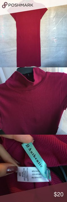 Tight sweaterdress Hard to show the true color, dark pink/maroon, knee length JJ Authentic Dresses Midi