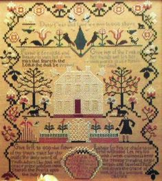Verse sampler stitched in 1830 by Mary Lloyd. Description from pinterest.com. I searched for this on bing.com/images