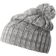 Helly Hansen Montreal Chunky Knit Beanie ($26) found on Polyvore featuring accessories, hats, chunky knit beanie, pom beanie, pom pom hat, beanie hat and beanie cap
