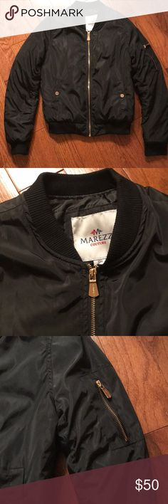Marezzi Couture Black Bomber with Gold Hardware BRAND NEW WITH TAGS!!! Also  selling e623c761f3b7d