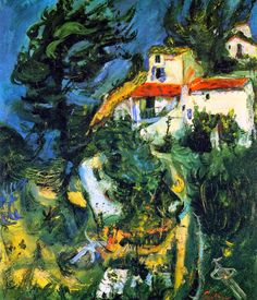 Chaim Soutine - z1 Landscape at Cagnes2 1924