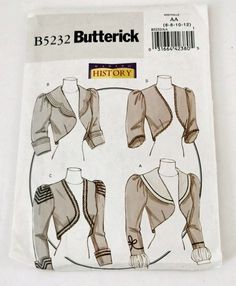 Making History Edwardian Bolero Jackets with COOL Sleeve Variations Sewing Pattern 5232 6 8 10 12 French Cartoons, Cool Sleeves, Mccalls Sewing Patterns, Bolero Jacket, Jacket Pattern, Historical Costume, Two Piece Dress, Line Jackets, Clothing Patterns
