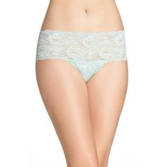 Women's Cosabella Never Say Never Hottie Low Rise Briefs ($34) ❤ liked on Polyvore featuring intimates, panties, misty green and cosabella