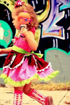 Jewel Sparkles Lalaloopsy Doll Costume Halter Lace Dress Super Twirly Dress-up Custom Sizes. $58.00, via Etsy.
