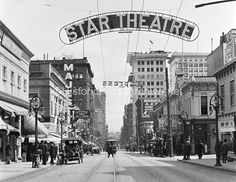 SW Washington at Park Ave, looking east.  This is the core of Portland's Theatre district as it was around 1911.  The intersection one block in the background is Portland's main intersection from that era, 8th Ave, now Park Avenue  The building in the background under construction is the Wilcox building, built 1911