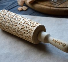 Cats pattern Engraved rolling-pin Animal Embossed Rolling Pin Cat lover gift Pet lover Animal print Gift for Her Animal lover gift idea