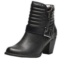 Trendige #Stiefeletten in #Schwarz von #Dockers. Mit dem #Kontrast von glattem #Leder und dem geriffelten Leder am #Schaft zieht der Schuh alle Blicke auf sich. ♥ ab 59,90 €