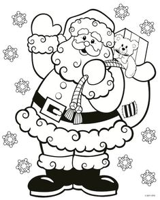 Christmas Coloring Pages For Kids Santa Coloring Pages, Printable Christmas Coloring Pages, Free Christmas Printables, Coloring Pages To Print, Coloring For Kids, Coloring Pages For Kids, Coloring Books, Free Printables, Christmas Coloring Sheets For Kids