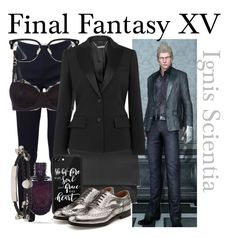 """Ignis Scientia from Final Fantasy XV (Dressed Up)"" by imanirine ❤ liked on Polyvore featuring Topshop, Michael Kors, STELLA McCARTNEY, GlassesUSA, Casetify, Alexander McQueen and Church's"