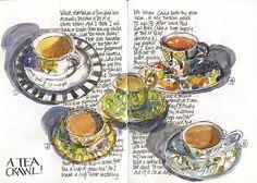 Liz Steel on Urban Sketchers (A Tea Crawl!)