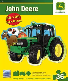 John Deere - Plowing Through - 36 Piece Floor Jigsaw Puzzle