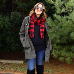 A buffalo plaid red scarf makes everything Christmasy amirite? New post up on whatiworeblog.com this morning!