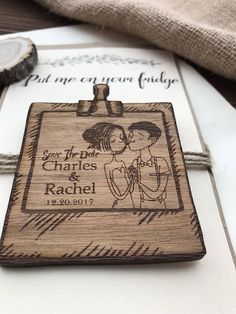 Save The Date - Wedding invitation - Wedding Favors - Wooden Magnet - invites -Gifts for Guests - Wedding magnet - rustic - wedding