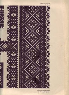 Krekla raksts - Traditional shirt embroidery. Bārta, Latvia.