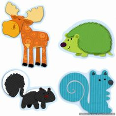 moose and friends cut outs