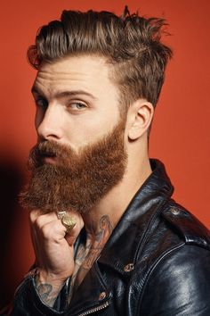Beards. Men. Ink. Rings. Pose. Photography.