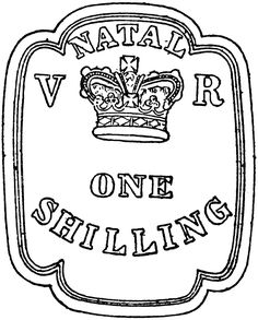 Natal One Shilling Stamp, 1857   ClipArt ETC Chapter 3, Postage Stamps, Clip Art, Xmas, Stamps, Pictures