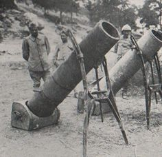 WW1 Trench mortars