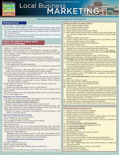 Local Business Marketing Laminated Reference Guide