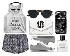 """""""daring"""" by lialicious ❤ liked on Polyvore featuring Converse, LULUS, Tom Daxon, Mr. Gugu & Miss Go, Christian Dior and jenniferpilates"""
