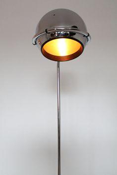 10 inches CHROME EYEBALL european floor lamp by VINTAGELAMPDEN, $1150.00