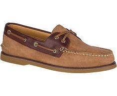 Sperry Men's Gold Cup Authentic Original 2-Eye Nubuck Boat Shoe, Tan/Brown