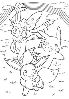 Smiling Pokemon coloring pages for kids, printable free | Coloring ...