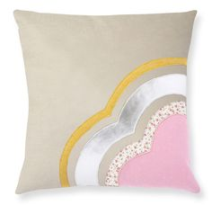 cushion in wool felt with appliqued designs, from muusa. $78