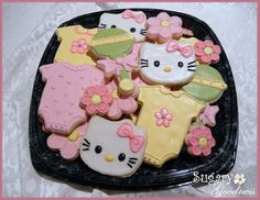 Hello Kitty Baby Shower Cookie Platter by Sugary Goodness (Kim), via Flickr
