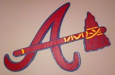 Braves Logo wood sign