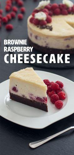 Brownie Raspberry Cheesecake – Raspberries – Ideas of Raspberries -… Brownie Raspberry Cheesecake – Raspberries – Ideas of Raspberries – cheesecake recipes classic recipe for brownies home made brownies fresh raspberries raspberries recipes Easy Cheesecake Recipes, Easy Cookie Recipes, Brownie Recipes, Baking Recipes, Dessert Recipes, Brownie Cheesecake, Brownie Cake, Baked Raspberry Cheesecake, Summer Cheesecake
