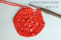 Free pattern for a basic crochet hexagon. Super clear step-by-step photo tutorial. This pattern can be used to make any size hexagon for pillows, rugs, patchwork afghans or even clothes. | MakeAndDoCrew.com