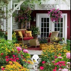 cape cod patios | love the french doors onto the patio