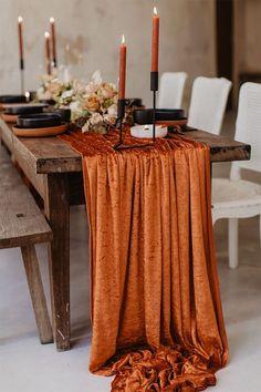 Wedding Table, Rustic Wedding, Our Wedding, Dream Wedding, Wedding Ideas, Terracotta, Decoration Table, Autumn Wedding, Dinner Table
